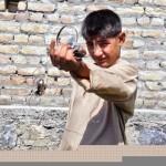 Osama House - Boy outside house at Abbotabad Pakistan