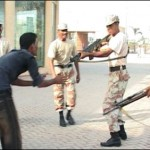 Rangers Guns at Sarferaz Shah Young man in Karachi