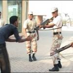 Rangers Guns at Sarferaz Shah Young man in Karachi