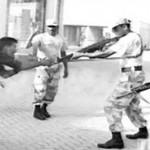 Sarfaraz Shah front of rangers guns