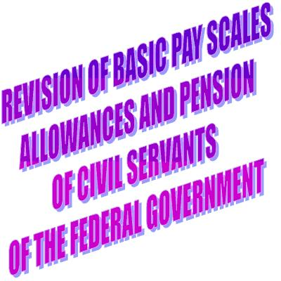 Pay Sclaes 2011, Pension and allowances notification