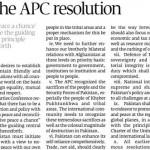 APC Resolution Full Text