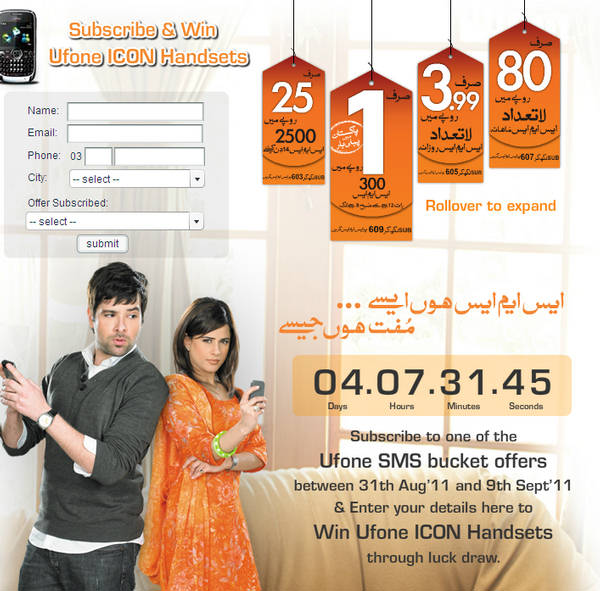 Ufone ICON Handset – Free For SMS – Paki Mag