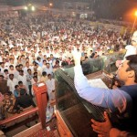 Hamza Shahbaz Sharif addressing  in Lahore 22-10-2011
