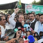 Nawaz Sharif Address outside Parliament House Islamabad on October 12, 2011