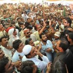 Nawaz Sharif addressing flood affected people  in Shhdad Pur Sindh on Oct 18 2011