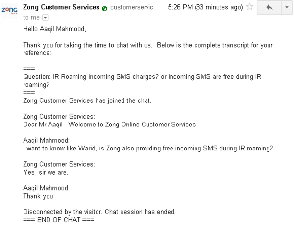 Zong Web Support