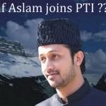 Atif Aslam Joining PTI - Pakistan Tehreek e Insaaf
