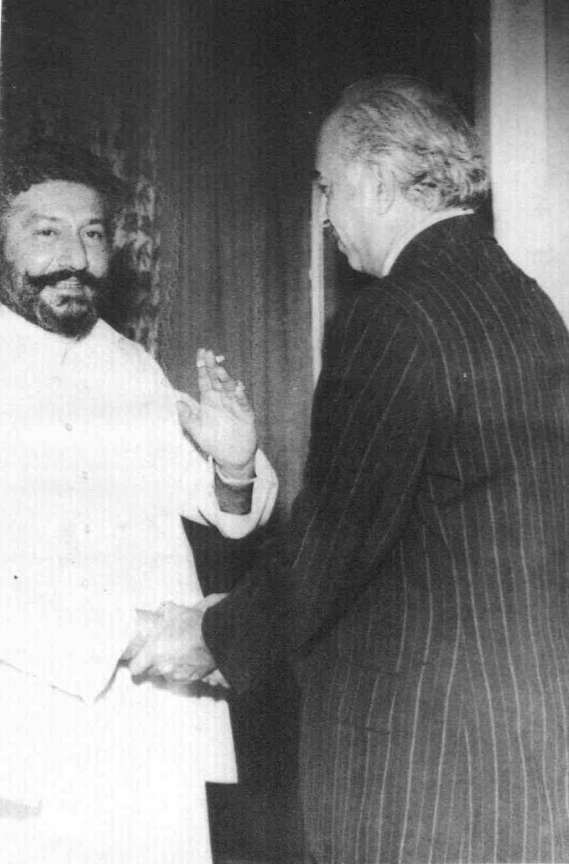 Pir Pagara Syed Mardan Shah With Zulfiqar Ali Bhutto