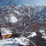 Snowfall in Gilgit Baltistan in 2012