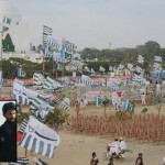 Difa e Pakistan Jalsa view at Mazar i Quaid Karachi (Hafiz Saeed and Muhammad Hussain Mehnati)