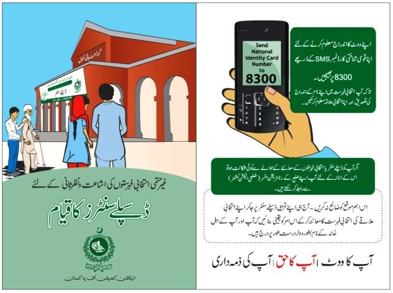 Nadra SMS Vote Verification 8300