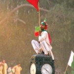 PTI Rally in Rawalpindi - a supporter