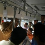 Shahbaz Sharif in a bus from model town to Minar e Pakistan 2
