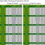Ramadan Calendar Karachi