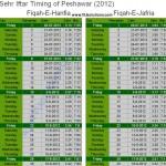 Ramadan Calendar Peshawar