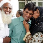 Muhammad Mohsin Ali BA Examination 2012 Punjab University Lahore Topper with parents (Mohsin belongs to Hafizabad)