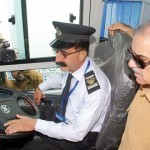 Shahbaz Sharif in Multan CNG AC Bus Service