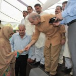 Shahbaz Sharif visits Multan on 7-8-2012 girls student green card