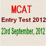 Entry Test for Punjab Medical Colleges 2012-13 on September 23