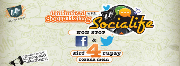 Ufone Socialife Facebook Twitter