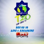 Faysal Bank T20 Cup 2012-13 - Full Schedule