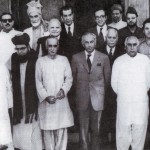 Prof Abdul Ghafoor Ahmad and other leaders on Constitutional Accord 1973