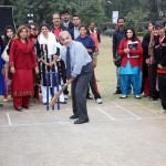 Shahbaz Sharif Played Cricket with students in Kinnaird College Lahore