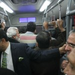 Shahbaz Sharif travelling in Metro Bus Lahore