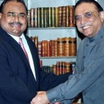 Altaf Hussain MQM with Asif Zardari PPP