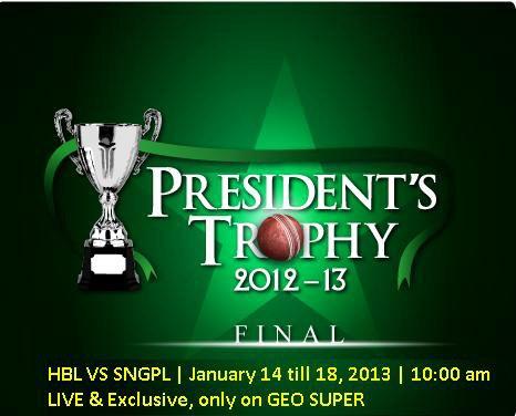 President Trophy Final