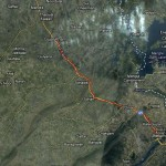 Route Map of Tahir Qadri Long March (Jhelum - Gujar Khan Section)