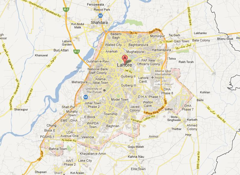 Lahore City Map