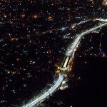 Metro Bus Lahore Elevated Portion Night View