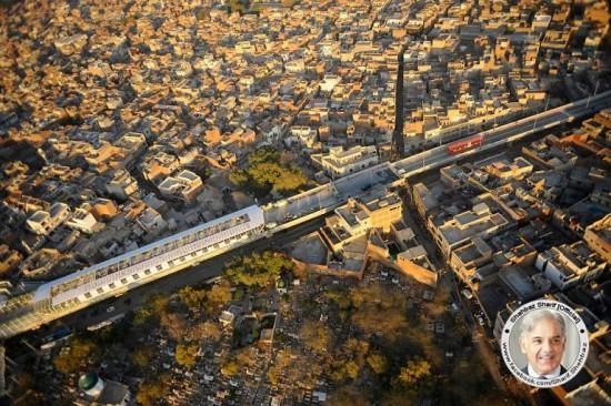 Metro Bus Route Lahore Bird Eye View