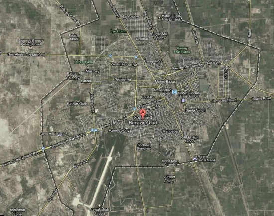 Nawabshah / Benazir Abad City Satellite Map
