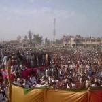 Nawaz Sharif (PMLN) Jalsa in Naudero Larkana