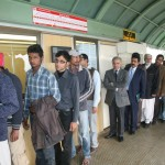 Shabaz Sharif in Que with people at metrobus station