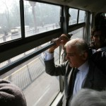 Shahbaz Sharif in Metro Bus service