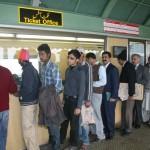 Shahbaz Sharif in Metro Bus station ticket office