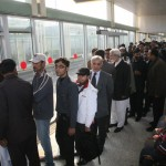 Shahbaz Sharif in Que at Metro Bus Station