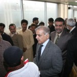 Shahbaz Sharif in Que at Metro Bus Station 2