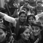 Girls in Imran Khan Jalsa Lahore