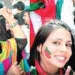 Girls in PTI Jalsa Lahore
