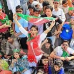 Imran Khan Lahore Jalsa's Attractive Scene (boys and girls all together)