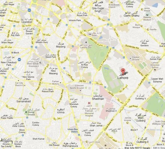 NA-122 Lahore Detail Street Map, Samanabad, Ichra, Shadman, Shah Jamal, Dharam pura, Upper Mall Constituency Area