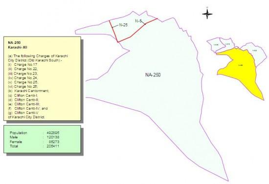 NA-250 Karachi Constituency Map
