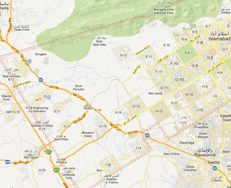 NA 48 Islamabad Street Map