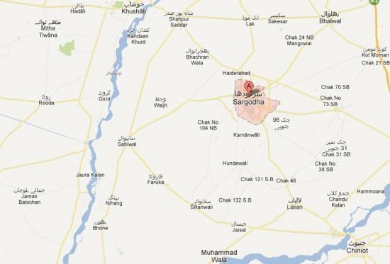 NA-68 Sargodha Street Map Constituency Detail (Sahiwal, Faruka, Nihang, Sailanwali)