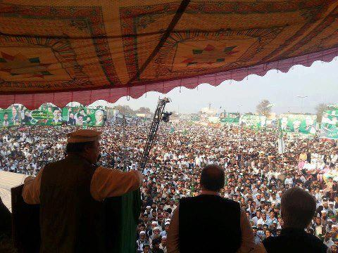 Nawaz Sharif PMLN huge Jalsa in Mardan 8-3-2013